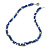 3 Strand Intertwine Dye Blue Coral, White Freshwater Pearl Necklace With Silver Tone Spring Ring Closure - 47cm L