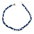 3 Strand Intertwine Dye Blue Coral, White Freshwater Pearl Necklace With Silver Tone Spring Ring Closure - 47cm L - view 4