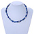 3 Strand Intertwine Dye Blue Coral, White Freshwater Pearl Necklace With Silver Tone Spring Ring Closure - 47cm L - view 2