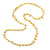 Long Lemon Yellow/ Transparent Shell Nugget and Glass Crystal Bead Necklace - 110cm L