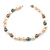 15mm Simulated Pastel Oval Glass Pearl Bead Necklace with Silver Tone Spring Ring Closure - 42cm L - view 5