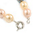 15mm Simulated Pastel Oval Glass Pearl Bead Necklace with Silver Tone Spring Ring Closure - 42cm L - view 4