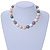 15mm Simulated Pastel Oval Glass Pearl Bead Necklace with Silver Tone Spring Ring Closure - 42cm L - view 2