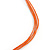 Long Multistrand Orange/ Brown Shell Necklace with Orange Cotton Cords - 84cm L - view 4