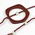 Long Multi-strand Brown/ Cream Ceramic Bead, Acrylic Ring Necklace - 90cm L - view 5