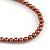 Long Multi-strand Brown/ Cream Ceramic Bead, Acrylic Ring Necklace - 90cm L - view 7