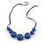 Purple Resin Bead Black Faux Suede Cord Necklace - 46cm L/ 3cm Ext