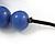 Purple Resin Bead Black Faux Suede Cord Necklace - 46cm L/ 3cm Ext - view 4