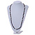 Long Black Glass, Lavender Ceramic Bead Necklace - 104cm L - view 2
