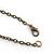 Vintage Inspired Black Ceramic/ Brown Bone Bead with Tassel Bronze Tone Chain Necklace - 96cm L - view 6