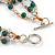 3 Strand Green Ceramic, Silver Acrylic Bead Necklace - 44cm L - view 5