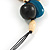 Chunky Cluster Wood, Resin Bead Black Cotton Cord Necklace (Teal, Brown, Natural, Black) - 72cm L/ 185g - view 5