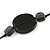 Black/ Brown Wood, Ceramic, Metal Beaded Black Cord Necklace - 96cm Long - view 4
