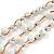 3 Strand White Ceramic, Silver Acrylic Bead Necklace - 44cm L - view 4