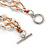 3 Strand White Ceramic, Silver Acrylic Bead Necklace - 44cm L - view 5