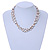 3 Strand White Ceramic, Silver Acrylic Bead Necklace - 44cm L - view 6