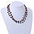 3 Strand Black Ceramic, Silver Acrylic Bead Necklace - 44cm L - view 3