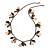 Boho Style Shell, Ceramic, Bone Charm with Bronze Tone Chain Necklace - 76cm L