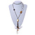 Vintage Inspired Long Tassel with Shell & Star Necklace In Bronze Tone - 92cm L/ 17cm Tassel - view 2