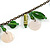 Boho Style Shell, Ceramic, Bone Charm with Bronze Tone Chain Necklace (Green/ Natural) - 76cm L - view 3