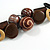 Chunky Wood, Ceramic Bead Cluster Black Cotton Cord Necklace (Brown/ Yellow) - 66cm L - view 5
