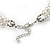 Two Row Light Cream Faux Glass Pearl Rigid Choker Necklace with Silver Tone Closure - 34cm L/ 4cm Ext - view 5