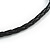 Brown/ Black Ceramic/ Wood Bead Black Faux Leather Cord Necklace - 78cm L - view 6