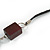 Mahogany Brown Wood and Black Ceramic Bead Cotton Cord Long Necklace - 94cm L - view 5