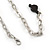 Romantic Glass and Ceramic Bead Heart Pendant Charm Necklace In Silver Tone (Black) - 64cm L - view 6