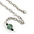 Romantic Glass and Ceramic Bead Heart Pendant Charm Necklace In Silver Tone (Teal, Black) - 64cm L - view 6
