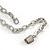 Romantic Glass and Ceramic Bead Heart Pendant Charm Necklace In Silver Tone (Plum, Black) - 64cm L - view 7