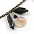 Boho Style Shell, Ceramic, Bone Charm with Bronze Tone Chain Necklace (Black/ Natural) - 76cm L - view 3