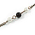 Vintage Inspired Black Ceramic Bead, White Faux Pearl Bronze Tone Chain Necklace - 126cm L - view 5