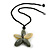 Oversized Grey/ Beige Resin Flower Pendant with Cotton Cord - 46cm L/ 10cm Flower - view 2
