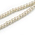 2 Strand Light Cream Faux Pearl Bead Long Lariat Necklace - 118cm L - view 7