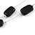 Two Strand Square Black Glass Bead Silver Tone Wire Necklace - 48cm L/ 5cm Ext - view 4