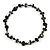Dark Green Bone and Black Wood Bead with Cotton Cord Necklace - 62cm L - view 3