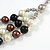 Layered Glass Bead Statement Necklace (Brown/ Black/ White/ Silver) - 62cm L - view 4