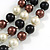 Layered Glass Bead Statement Necklace (Brown/ Black/ White/ Silver) - 62cm L - view 5
