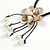 Antique White Shell Flower Pendant with Black Faux Leather Cord Necklace - 46cm/ 8cm Front Drop - view 4