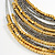 Multistrand Layered Wire Glass and Acrylic Bead Necklace In Silver Tone (Grey/ Gold) - 56cm L - view 3