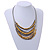 Multistrand Layered Wire Glass and Acrylic Bead Necklace In Silver Tone (Grey/ Gold) - 56cm L - view 2