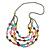Multistrand Layered Glass Bead Necklace (Multicoloured) - 80cm L