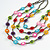 Multistrand Layered Glass Bead Necklace (Multicoloured) - 80cm L - view 3