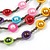 Multistrand Layered Glass Bead Necklace (Multicoloured) - 80cm L - view 4