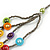 Multistrand Layered Glass Bead Necklace (Multicoloured) - 80cm L - view 5