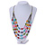 Multistrand Layered Glass Bead Necklace (Multicoloured) - 80cm L - view 2
