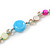 Long Pastel Multicoloured Shell Nugget, Ceramic and Glass Crystal Bead Necklace - 116cm L - view 4