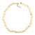 Pastel Yellow Coin Shell and Crystal Glass Bead Necklace with Silver Tone Closure - 56cm L/ 5cm Ext - view 4