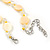 Pastel Yellow Coin Shell and Crystal Glass Bead Necklace with Silver Tone Closure - 56cm L/ 5cm Ext - view 5